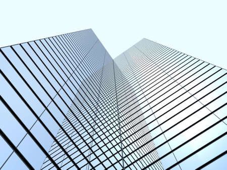 corporate travel: office buildings Stock Photo