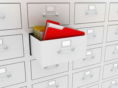 3d illustration of information search metaphor Stock Photo