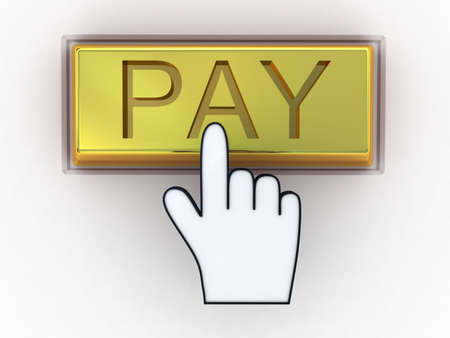 Electronic payment golden concept photo