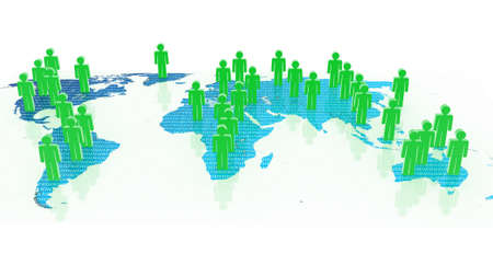 Social network concept on world globe, 3D images Stock Photo - 17969082