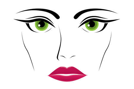 green eyes: woman green eyes