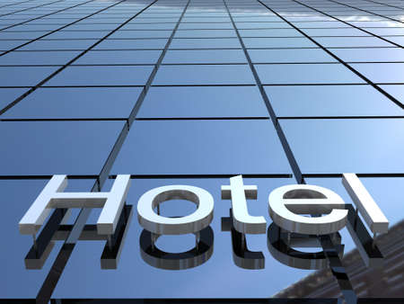 Hotel building, 3D images photo