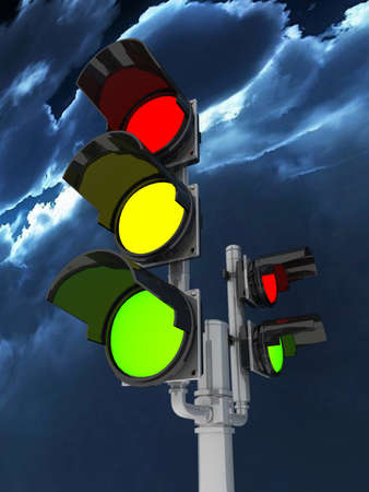 Traffic light isolated on white background Stock Photo - 18953078