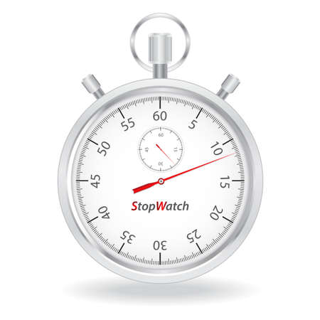 Stopwatch on white background photo