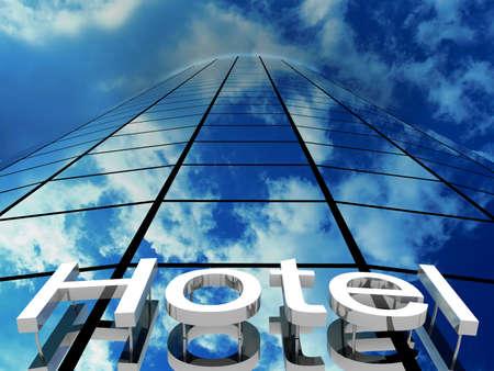 Hotel gebouw, 3D-beelden
