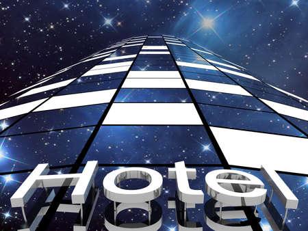 Hotel building, 3D images photo