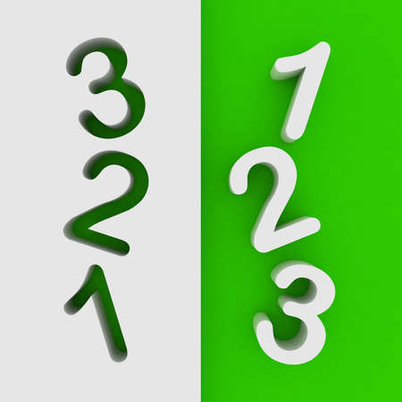 Number 1,2,3 from  solid alphabe Stock Photo - 21704029