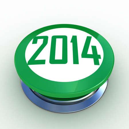3d button 2014 green push technology press photo