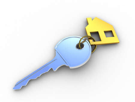 Fine 3d image of isolated key of dreams house. Stock Photo - 23129966