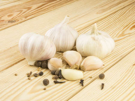 Organic garlic photo