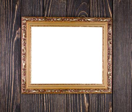 frame on old wood background