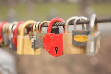 secret love: Red Heart Lock Romance Love
