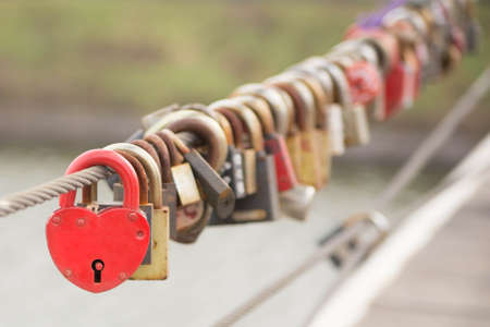 Red Heart Lock Romance Love photo
