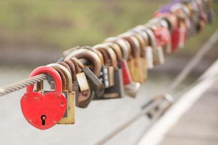romance: Red Heart Lock Romance Love
