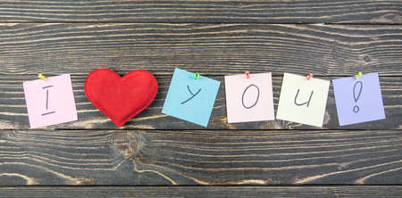 I love you on wood background photo