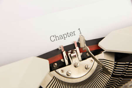 chapter: Chapter 1  printed on a clean sheet to the typewriter