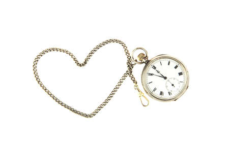 Pocket watch on white background photo