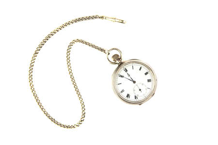Pocket watch on white background photo
