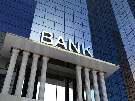 Bank building, 3D images
