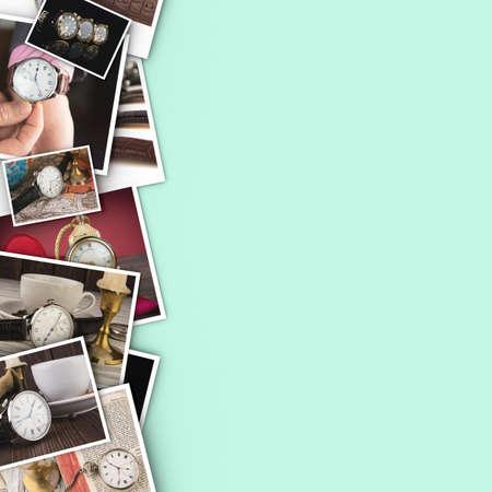 clockwise: Mans watch. Luxury goods Stock Photo