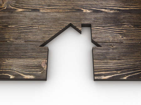 House abstract wooden Stock Photo