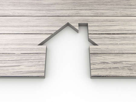 House abstract wooden Standard-Bild
