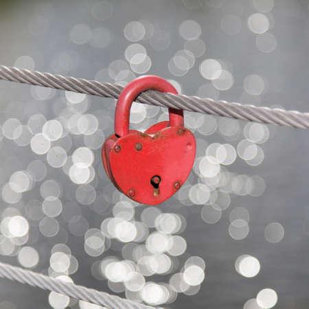 secret love: Heart Lock Romance Love Stock Photo