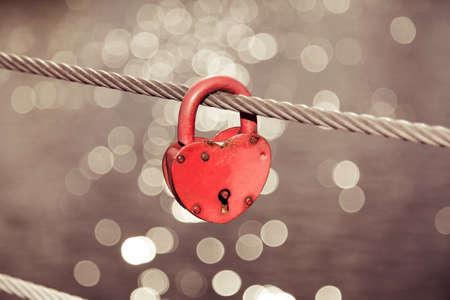 romance: Heart Lock Romance Love Stock Photo