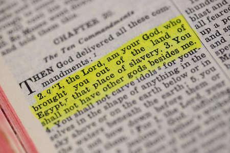 Scrittura. EXODUS, 20: 2