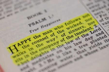 Scripture. PSALM, 1:1