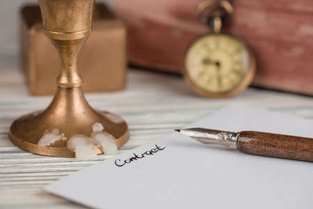 estate: The signature is contract by a pen Stock Photo