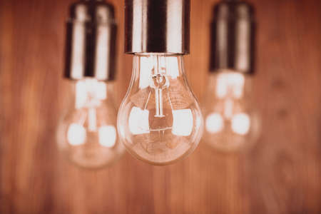 Incandescent bulbs in the background