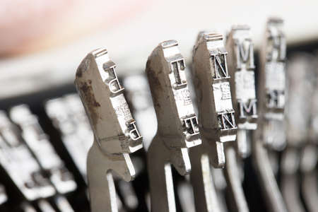 Figures and letters of the typewriter Stock Photo