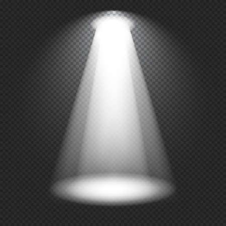 Stage lighting. Vector spotlight. Volumetric light effects