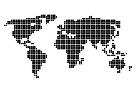 Black abstract world map on a white background. Vector illustration 일러스트