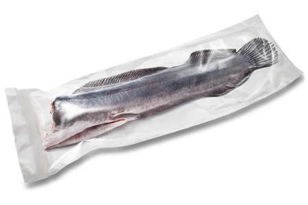 bagre: siluro en blanco en el paquete