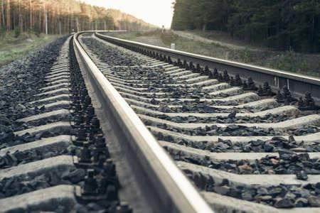 distance: Receding into the distance railway.