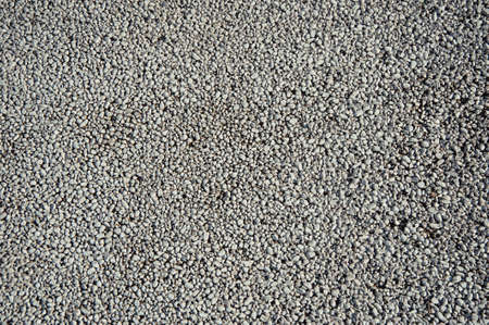 crushed: Crushed stone (gravel) closeup.