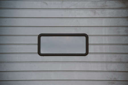 sectional door: Gray sectional doors in the closed position