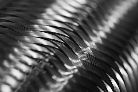 electric grid: Metal wire braiding. Steel texture. Background. Template. Close up.