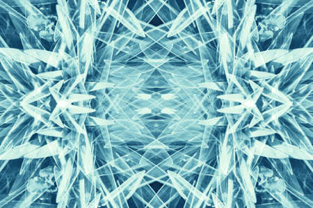 Abstract hallucinogen fluorescent background of cyanish hues. Surrealism illusion on drink and drug theme. Psychedelic bluish effect from cannabis or alcohol. Lsd cosmic effect. Geometric distortions. Stockfoto