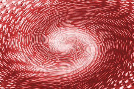 Red wormhole in form of spiral absorbs space. Fantastic background image of asymmetric vortex tunnel in center of shot. 版權商用圖片