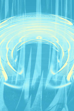 Hallucinogenic blue striped background. Accumulation of astral energy. 免版税图像