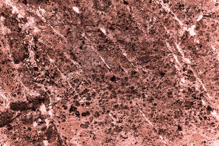 Vintage pink background. Rough painted wall of living coral color. Imperfect plane of beige colored. Uneven old decorative toned backdrop of beige tint. Texture of pink hue. Ornamental stony surface. 写真素材