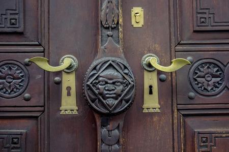 teak: old door.