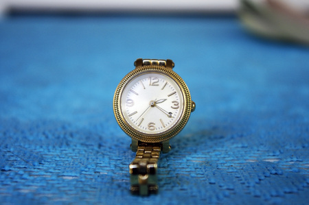 ladys: luxurious ladys  watches on a blue background. Still