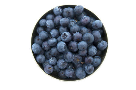 bowl with fresh blueberries on white background photo