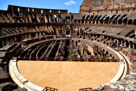 Inside of the Roman Coliseum photo