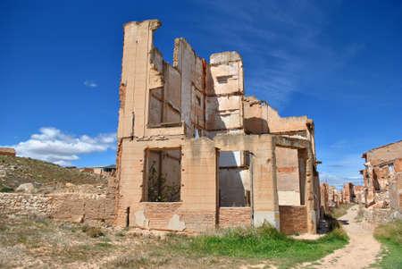 bombed: Bombed house in Belchite