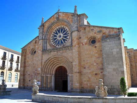 avila: Church of San Pedro in Avila (Spain)  Stock Photo